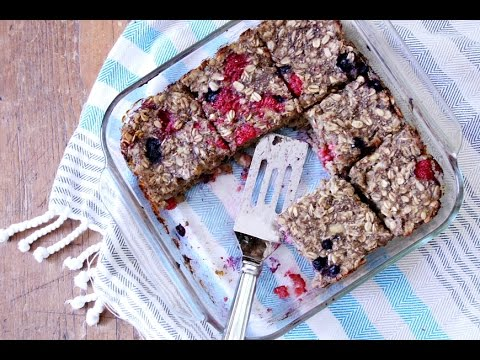 How To Make Baked Oatmeal Bars (Gluten-Free & Vegan)