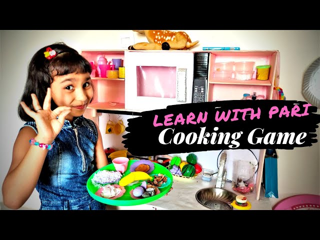 Cooking Game in Hindi part 7 | Cooking for guest |  Pari kitchen game | Cooking set | #LearnWithPari