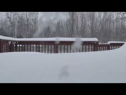 Montreal 2017 Snow Storm Timelapse