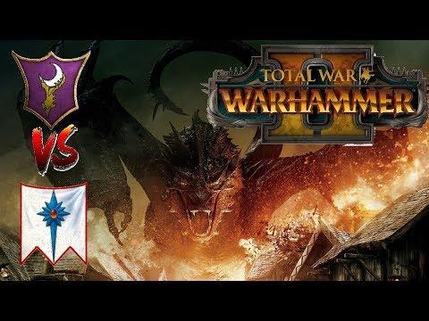 High Elves vs Dark Elves | THE DRAGONS - Total War Warhammer 2 Multiplayer Battle #21