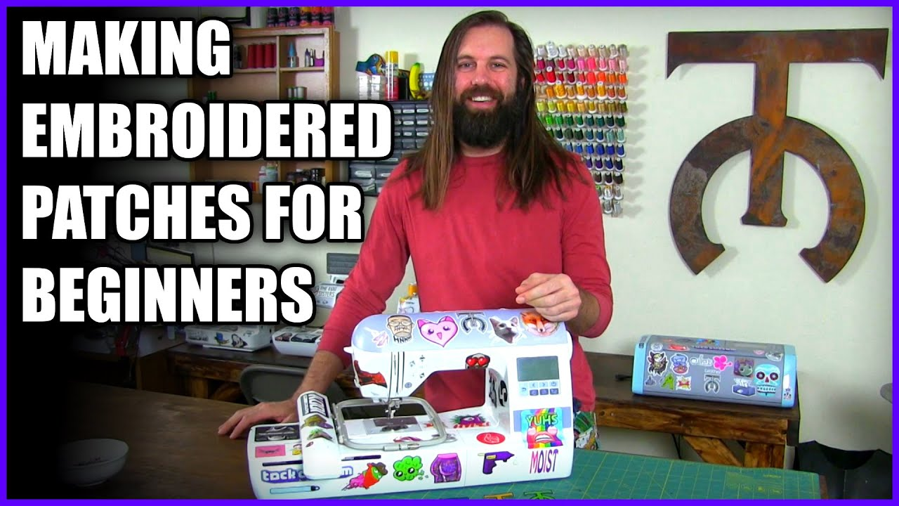 How to Make Custom Embroidered Patches for Beginners - Brother PE-770 PE-800 Tutorial