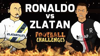 🔥Ronaldo vs Zlatan: Football Challenges!🔥