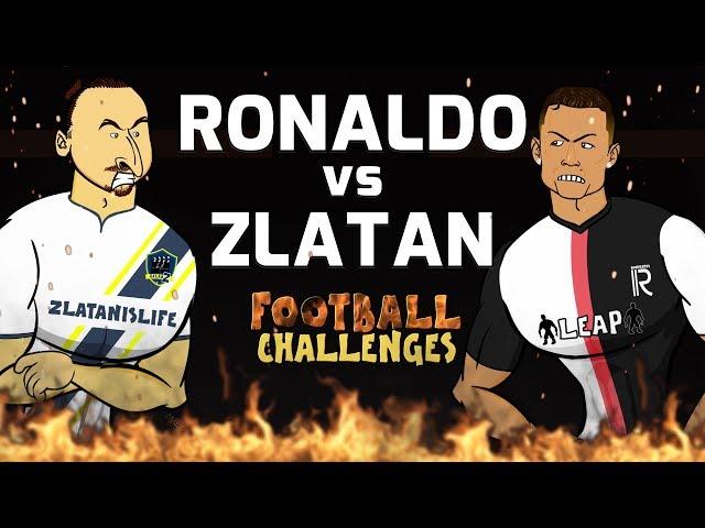 🔥Ronaldo vs Zlatan: Football Challenges!🔥