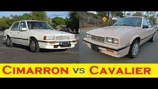 Cimarron VS Cavalier Car Comparison Cadillac & Chevrolet Economy meets Luxury