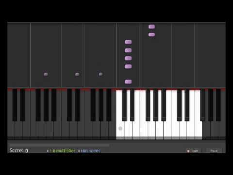 Beautiful Piano Song Synthesia - Cold by Jorge Méndez