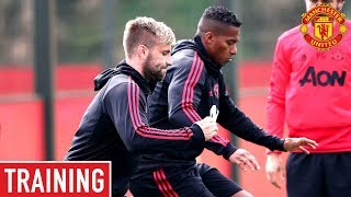 Manchester United train ahead of Burnley clash! | Manchester United Training