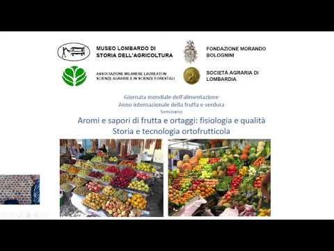 Seminario 15 ottobre 2021  - Aromi e sapori di frutta e ortaggi