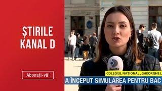 Stirile Kanal D (18.03.2019) - A inceput simularea pentru BAC #foaiagoala Editie COMPLETA
