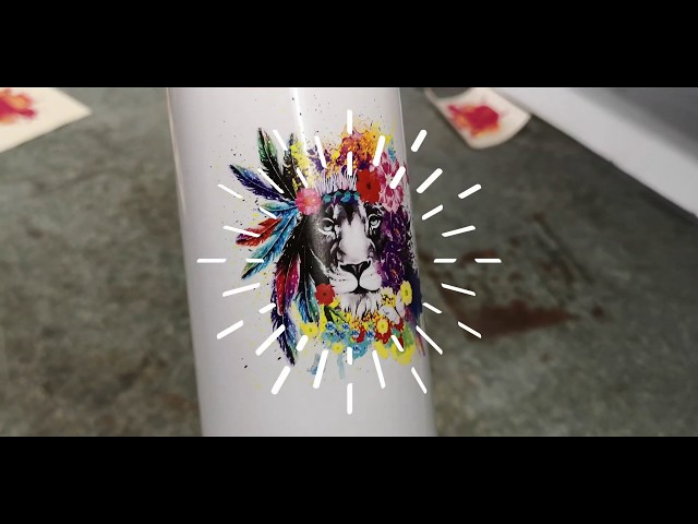 Sublimation bottle printed using chemicals