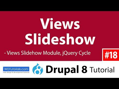 Views Slideshow (Drupal 8 Tutorial #18)