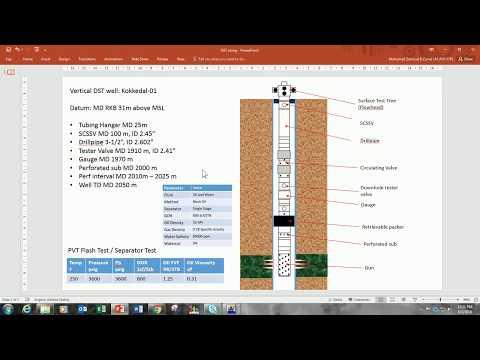 FDP - Build Oil well in PROSPER (Drill Stem Test DST & PVT matching)