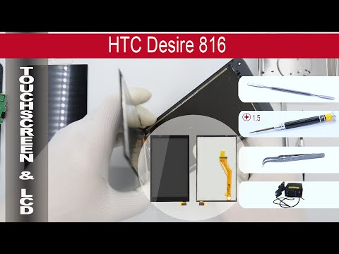 How to replace 🔧 digitizer & lcd HTC Desire 816 D816h