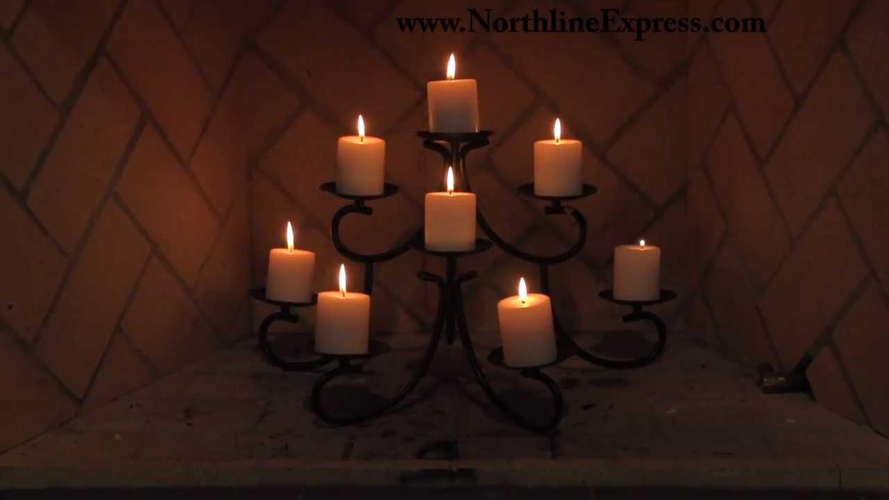 Chandelier Style Fireplace Candelabra - YouTube