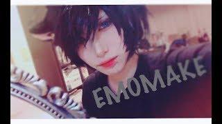 【V系メイクならぬ】エモ系メイク【男装】