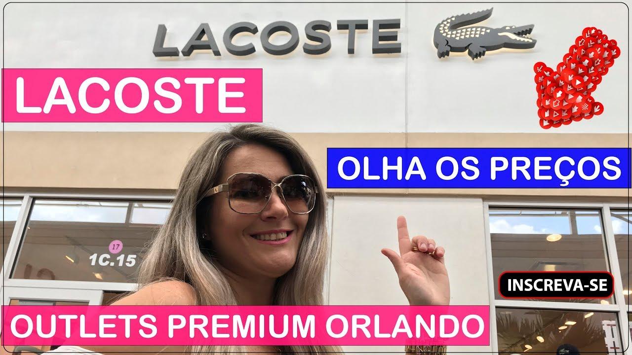 0f06a116a LACOSTE Orlando Premium Outlets com PREÇOS no Viajar Muda Tudo ...