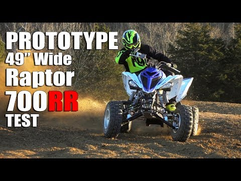 """Prototype Yamaha Raptor 700 Test:  49.5"""" wide for the modern off-road world!"""