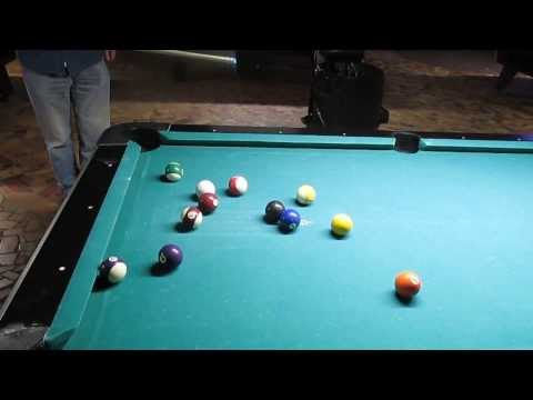 3-4-14 Playing pool at Frozen Spirits ~1~