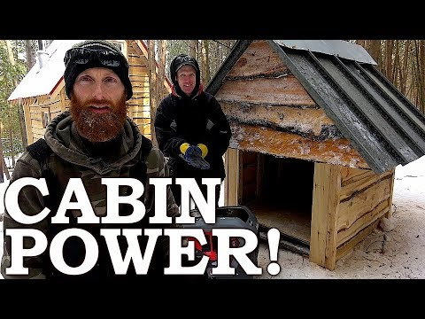 POWER At The OFF GRID CABIN! | Generator, Electrical, Buttoning Up, Guests Ep3