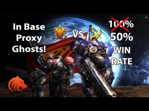 StarCraft 2: In Base PROXY Ghosts 100% Win Ra...oh wait ????