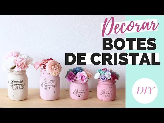DECORAR BOTES DE CRISTAL con pintura y cuerda | DIY