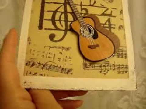 Diy birthday card wguitar embellishment youtube bookmarktalkfo Choice Image