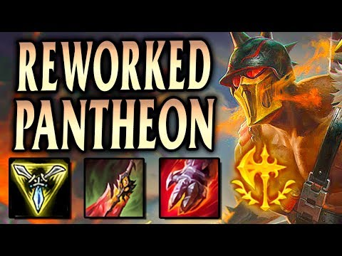 REWORKED PANTHEON TOP IS RUTHLESS! TONS OF DAMAGE! - League of Legends S9