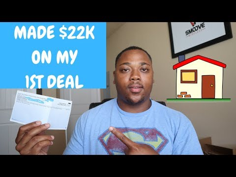 I MADE $22,000 ON MY 1ST WHOLESALE REAL ESTATE DEAL!