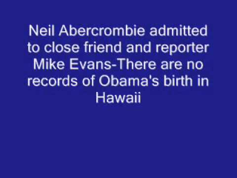 Abercrombie Admits There Are No Obama Birth Records In Hawaii