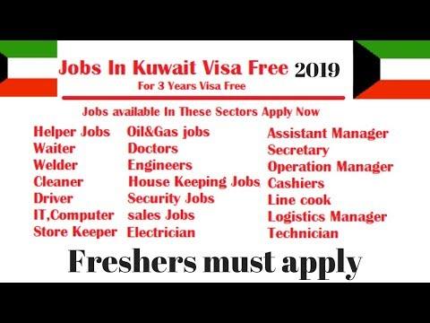 Salary 200-700 KD // New openings in Kuwait 2019