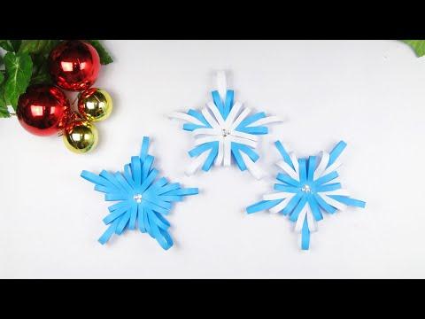 3D Paper Star for Christmas / Paper Stripe Snowflake DIY