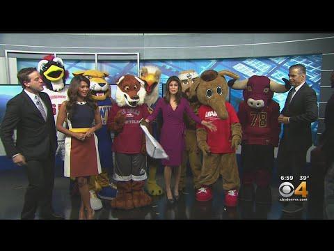 Mascots Visit CBS4 This Morning