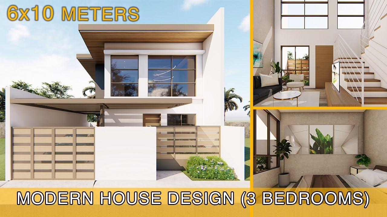 Modern House Design Idea (6x10 meters on 100sqm lot)