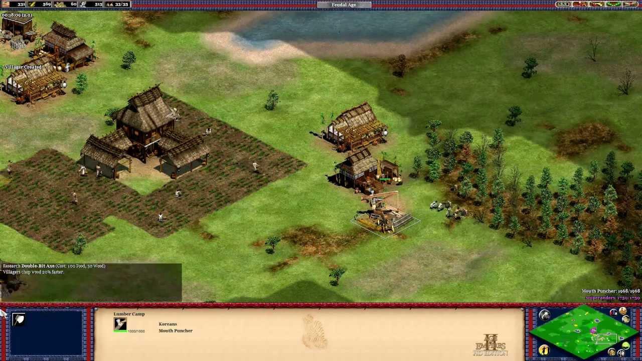 AoE2 HD - Korean Tower Rush (Trush) - Black Forest