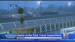 Experts Examine Closed Santa Anita Racetrack After 21 Horse Deaths