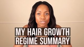 My Hair Growth Regime Summary (Relaxed Hair)