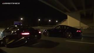 Porsche vs GT-R Battle