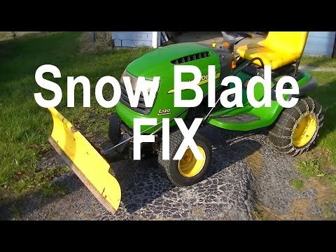 Snow Blade For Lawn Tractor Fix Without Welding - Stop Bending Snow Plow Dozer Blade Mount Brackets