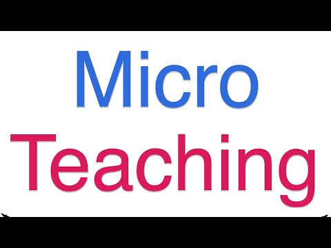 Micro teaching assignment
