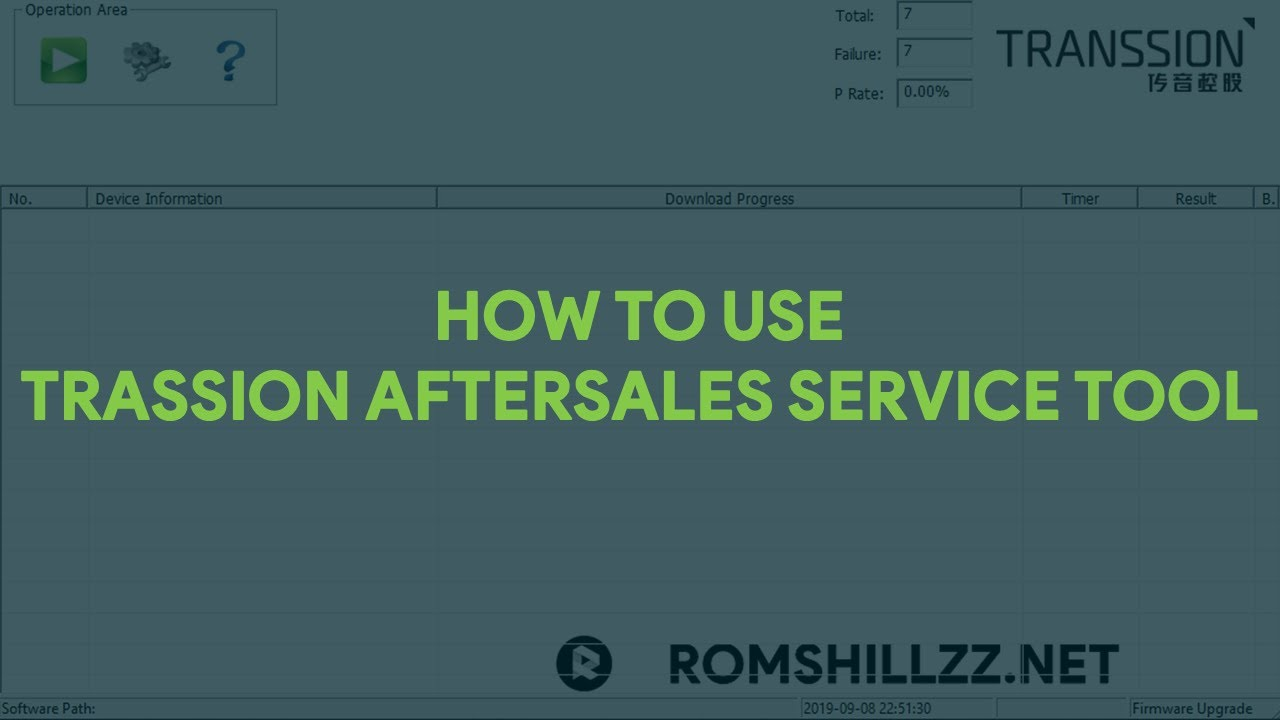How To Use Transsion AfterSales Service Tool - [romshillzz]