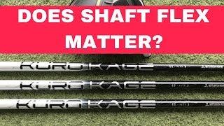 DRIVER SHAFT FLEX TEST - DOES FLEX MATTER? REGULAR v STIFF v EXTRA STIFF