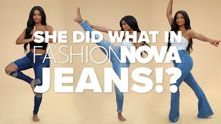 You Won't Believe What She Did To Her Jeans! | FASHION NOVA