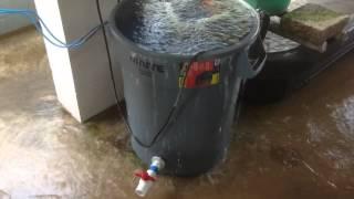 Backwash for Single Barrel BioFilter