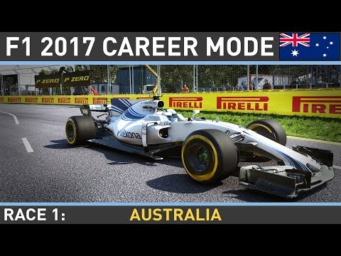 F1 2017 Career Mode Part 1: AUSTRALIAN GRAND PRIX LIVE!