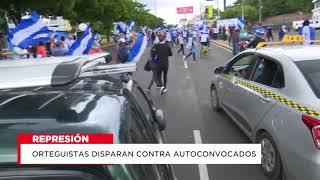 Orteguistan disparan a auto convocados en marcha de las banderas