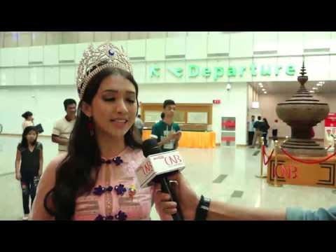 Miss Intercontinental Universe ျပိဳင္ပြဲအၾကိဳ ျပင္ဆင္မႈအေနျဖင့္ ျမန္မာအလွမယ္ နီေပါနုိင္ငံသုိ႔ထြက္ခြာ