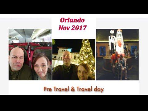 0 pre travel and travel day orlando florida disney nov 2017