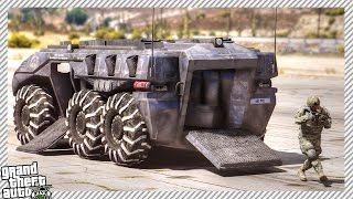 EPIC FUTURISTIC ARMORED PERSONNEL TANK (GTA 5 MODS GAMEPLAY)