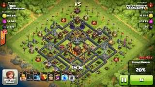 BM096 Balloons and Minions Strategy against champion level opponent Clash of Clans CoC