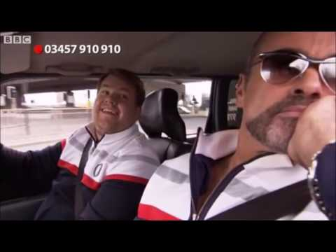 George Michael in James Corden's first Carpool Karaoke for Comic Relief