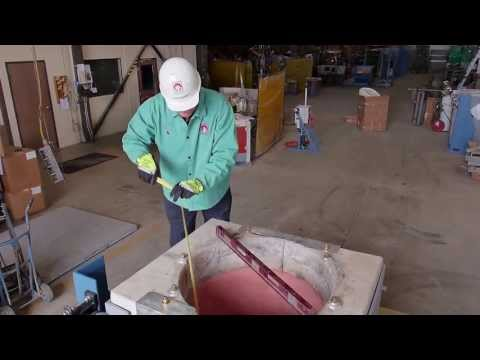 Installation of a Crucible in a Coreless Induction Furnace -